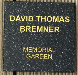 Memorial plate engaved corian stone black quartz gold fill