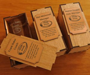 Set 3 Shot glass box sets timber boxes with engraved metal plates