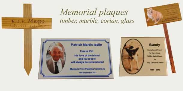 Memorials engraved and printed to your requirements