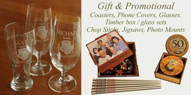Engraved glasses and gift items for personal memories