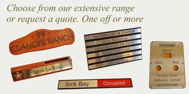 Engraved signs for home office and services
