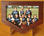 Red gum frame engraved with inlay of photo