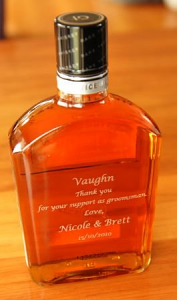 Custom engraved bottles