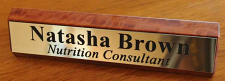 Desk Name Plate Timber 200 mm long