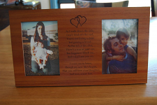 """Timber engraved Photo Frame 2 x 150 x 100 mm ( 6"""" x 4"""" ) Photo"""