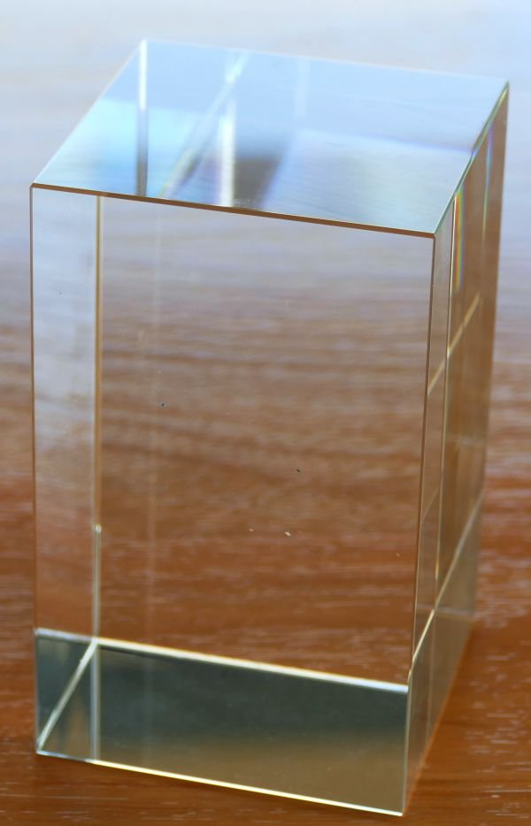 Thumb_Crystal award block blank 100 x 60 x 60 mm