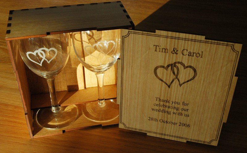 Citation wine glass pair in Box