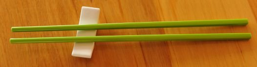Thumb_White rest  with Green Chop Sticks