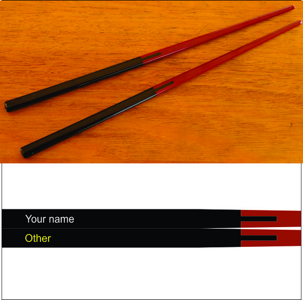 Thumb_Chopsticks two tone black - maroon