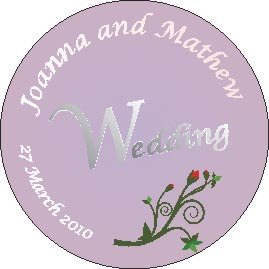 Thumb_Circle Wedding printed coaster on board