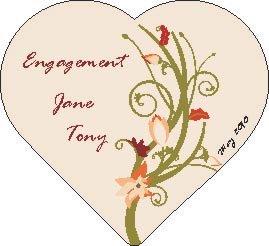 Thumb_Heart Engagement printed coaster on board