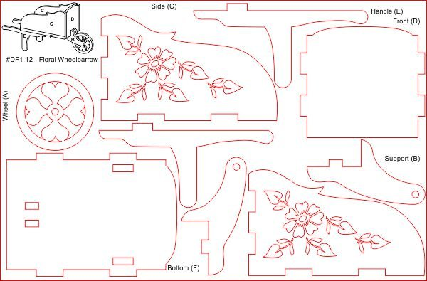 Thumb_Doll house wheelbarrow floral layout