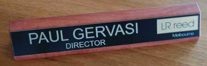 Thumb_Red gum desk name plate black gold engraving