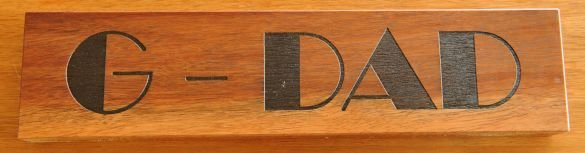 Thumb_Timber sign Silky Oak 50 x 150 mm black fill