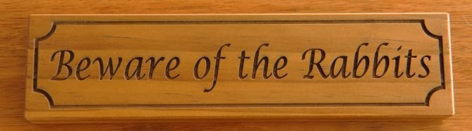 Thumb_Timber sign Treated Pine engraved  75 x 200 mm