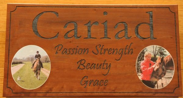 Thumb_Stable sign print and engraved red gum