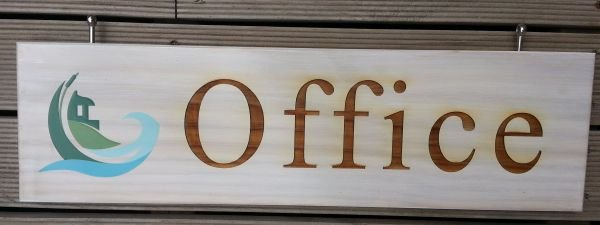 Thumb_Treated pine office sign print and engraved
