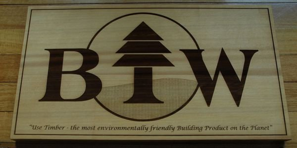"Timber Sign 900 x 550mm ( 35"" x 22"" )"