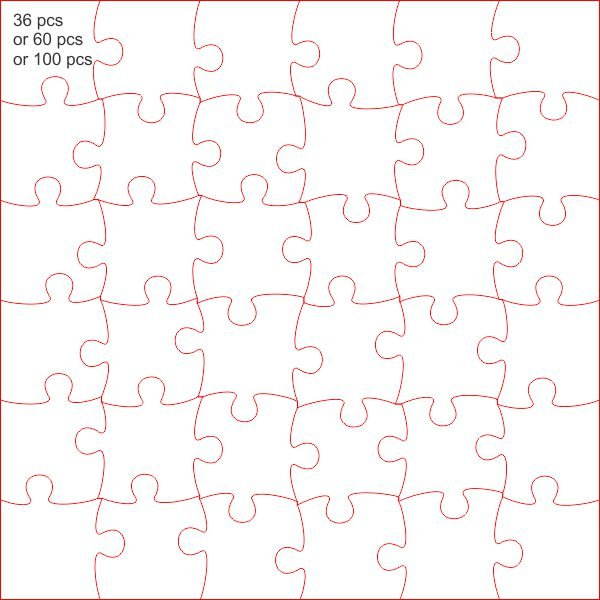 Jigsaw 600 mm Plain shape for you to sign or paint