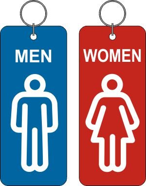 RestRoom Toilet Key tag PAIR