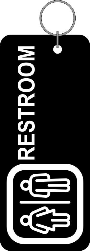Thumb_Rest room tag black