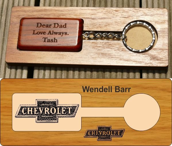 Engraved Wooden Key Chain