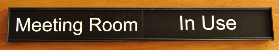 Thumb_Meeting room sign 400 mm Black white engraving