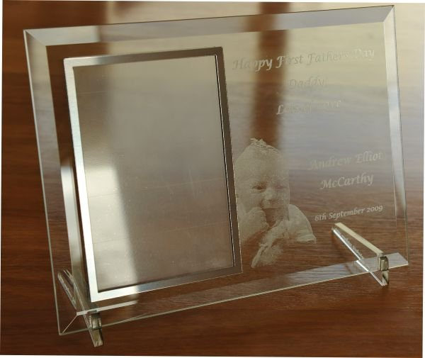 Thumb_Bevel glass silver photo frame engraved photo and text