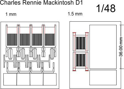 Thumb_1:48 scale Rennie Mackintosh chair and table kit
