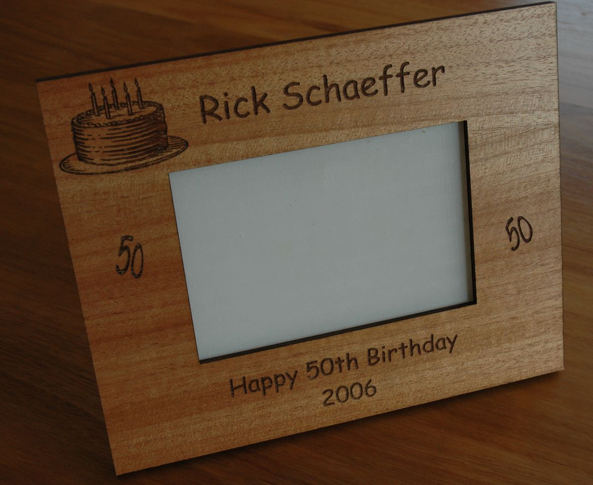 "Timber engraved Photo Frame 150 x 100 mm ( 6"" x 4"" ) Photo"