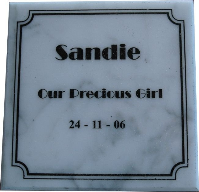 White Marble Memorial Plate