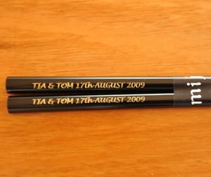 ChopSticks Enamel Black Engraved