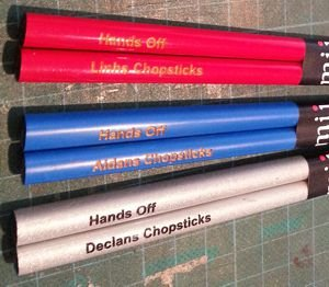 Enamel Chopsticks engraved