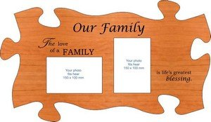 Family photo frames expandable with interlocking jigsaw shape
