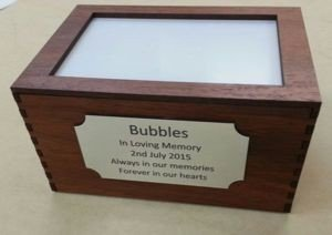 Wooden Pet Cremation Box Smal