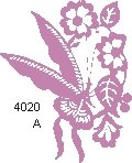 Butterfly Flower Paper Cut 4020