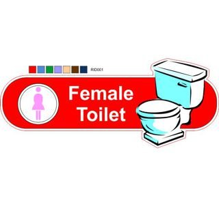Female toilet ID sign