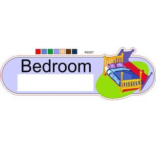 Bedroom bright colourID sign