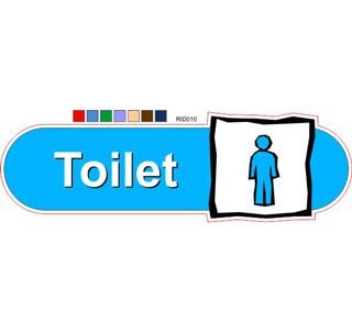 Male toilet ID sign