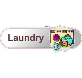 Laundry wash & dry ID sign