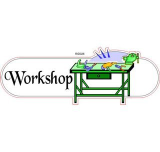 Workshop ID sign