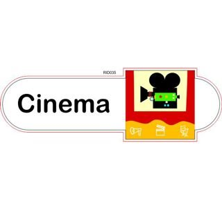Cinema room ID sign
