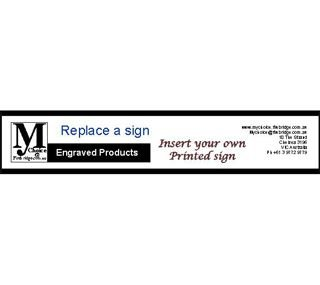 "Replace a Sign Clear window 250 X 60 mm ( 10"" x 2.3"" )"