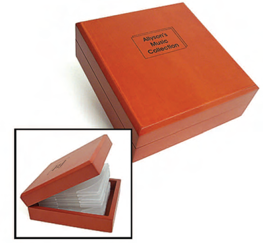 Wooden CD Case  ( 12 CDs ) 152x152x41 mm