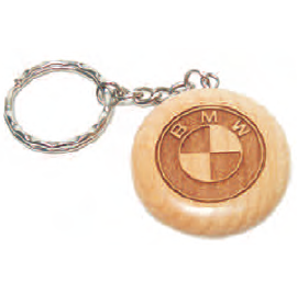 Round Maple Key Chain 38 x 6 mm