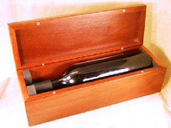 Wine bottle Jarrah box