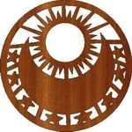 90 mm Disk Stephen Hughes Design Sun Moon