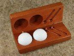 Golf Ball and Tees in Jarrah box