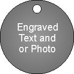 """ID Tag Circle 32 mm ( 1.25"""" ) Stainless Steel"""