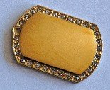 Stone ID tag 33 x 48 Silver or Gold